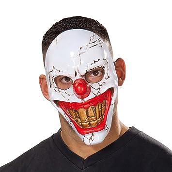Careta Arlequín Terrorífico | Máscara Payaso Asesino | Mascarilla Bufón Malvado | Antifaz Halloween