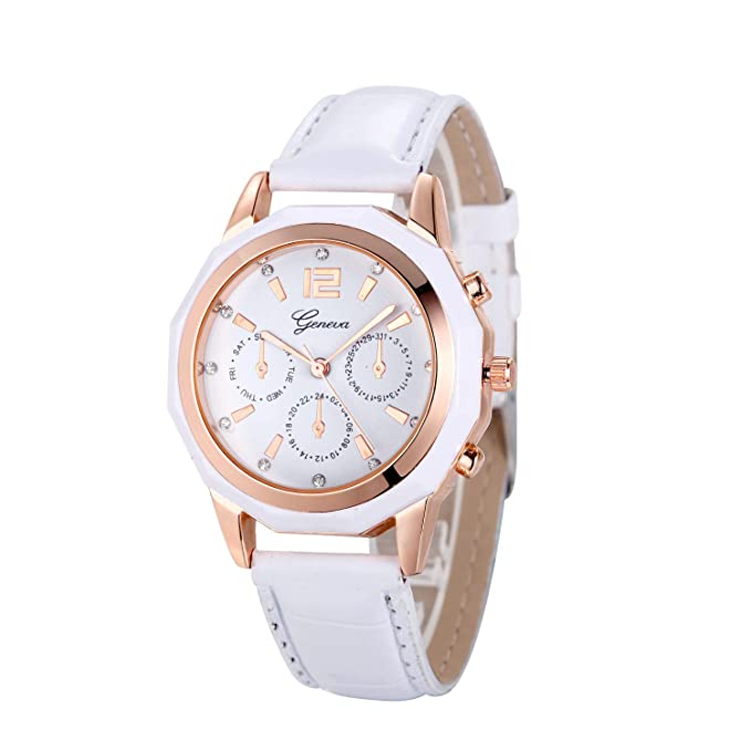 Naturazy-reloje Reloj Geneva, Analogico para Mujer De Cuarzo Mujeres Moda Mujer Reloj De Pulsera Correa De Cuero Cuero Reloj Casual Lujo AnalóGico Cuarzo ...