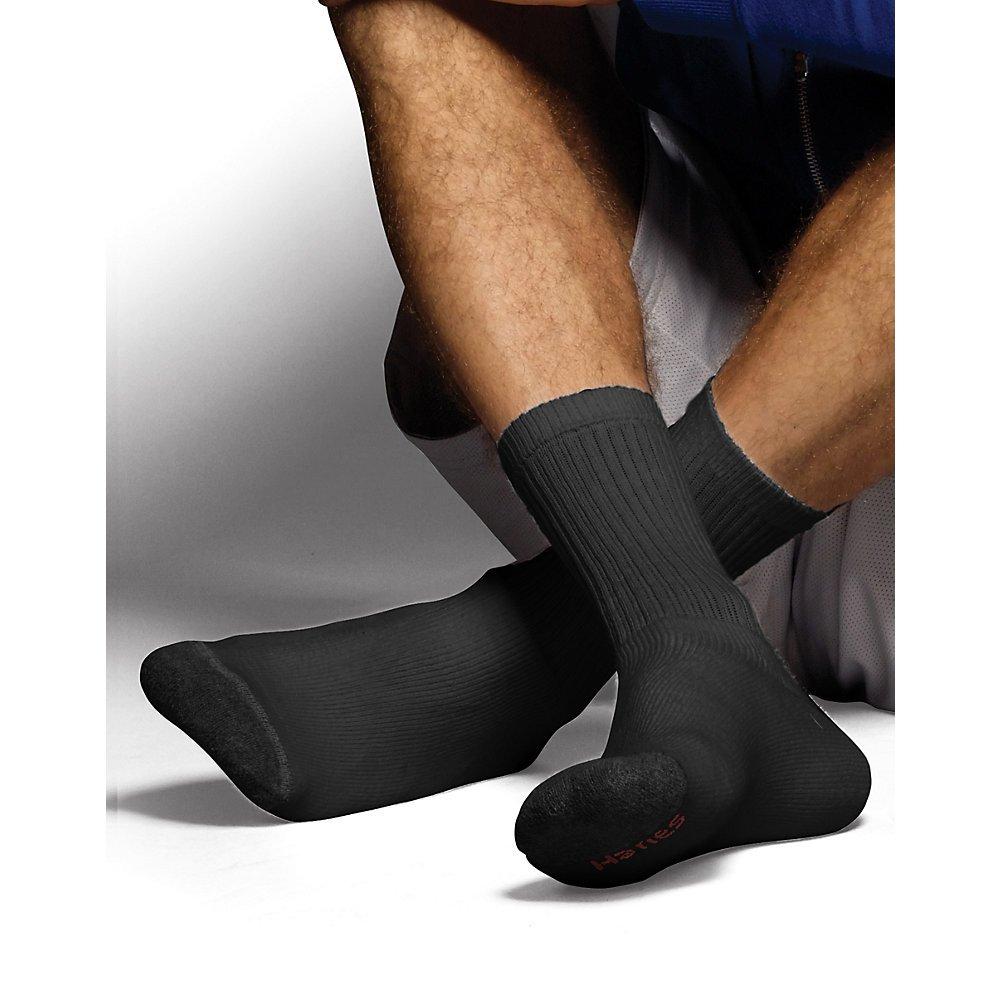 Hanes Ultimate Mens ComfortSoft Crew Socks 6-Pack