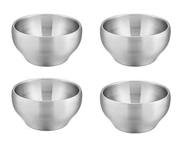 Amazon.com: E-far - Cuencos de acero inoxidable para niños ...