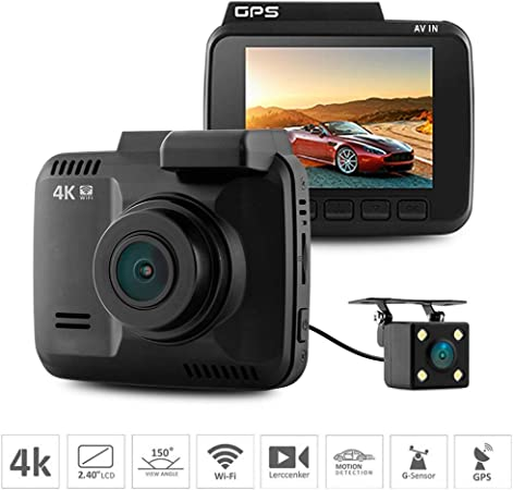 HD Dual Lens Hidden Mini Wifi Car DVR Dash Cam Recorder Rear Camera Night Vision