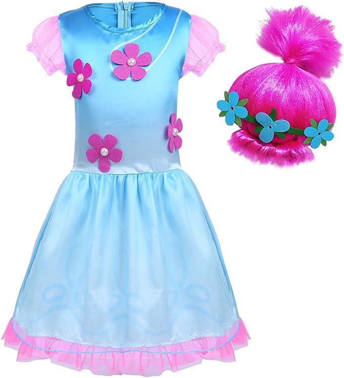iiniim Disfraz Infantil de Princesa Niña para Halloween Fiesta ...