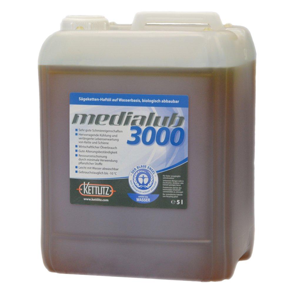 'kettlitz de Medi alub 3000Agua basado en reflectante de kettenöl 5l bio. abbaubares kettenhaftöl