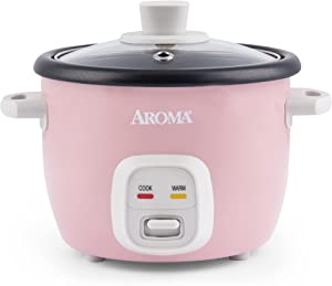 AROMA 4-Cups (Cooked) / 1Qt. Rice & Grain Cooker (ARC-302NGP), Pink