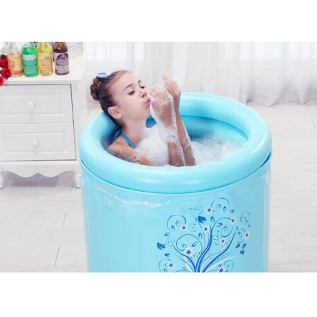 Couleur : Rose Meters Baignoire pliante baignoire baignoire adulte plastique gonflable
