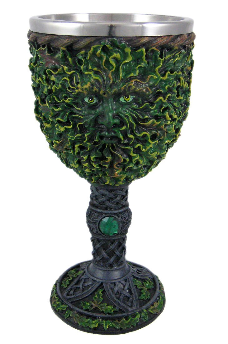 Pagan Green Man Wicca Goblet Chalice Fantasy Gifts