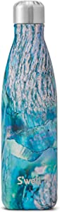 S'well Stainless Steel Water Bottle - 17 Fl Oz - Paua Shell - Triple-Layered Vacuum-Insulated Containers Keeps Drinks Cold for 41 Hours and Hot for 18 - with No Condensation - BPA Free Water Bottle