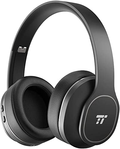 TaoTronics Active Noise Cancelling Bluetooth Headphones, Durable Over Ear Headphones with Soft Protein Ear Pads 24 Hour Playtime, Foldable, CVC 6.0 Noise Cancelling Mic Wireless Headphones