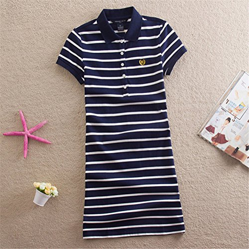 Beverly Campbell Fashion Embroidery Striped Polo 2017 Print Party Casual Dresses De Festa T Shirt Femme Summer Sexy Club Evening Robe Women Ete Vestidos (Dillards Robes)