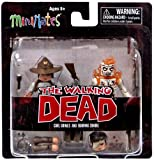The Walking Dead Minimates Series 6 Carl Grimes and Burning Zombie Mini Figures