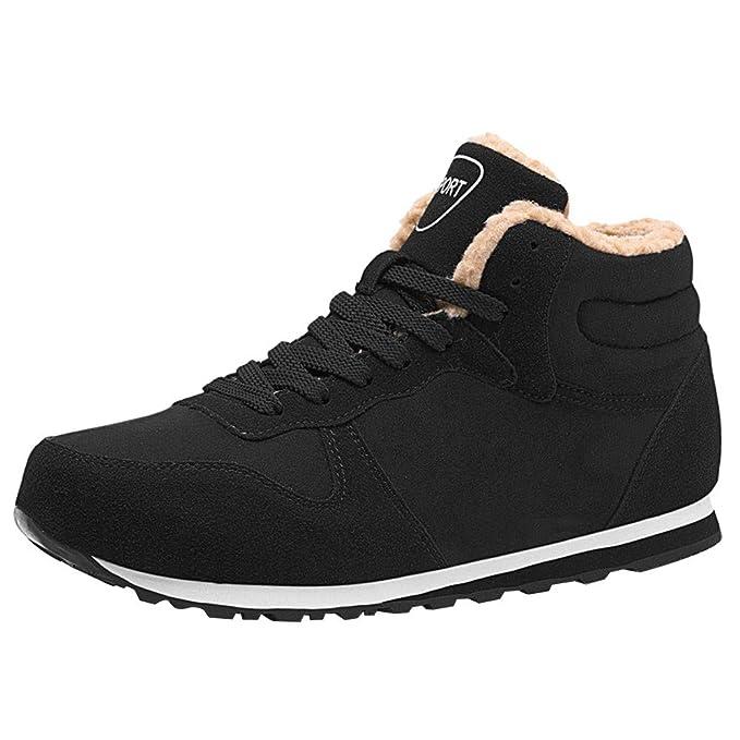 Zapatos de hombre JiaMeng Oxford Zapatos con Cordones Botas cálidas de Invierno Botines de Felpa Zapatos de Trabajo en la Nieve Botas de Nieve para ...
