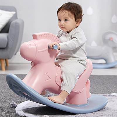Hereinway Child Rocking Horse , Plastic Cute Rocking Horse for Toddlers Gift: Toys & Games
