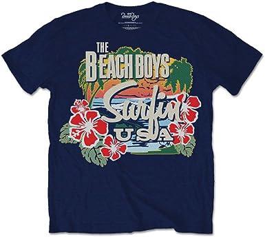 Beach Boys Surfin USA Rock Brian Wilson Oficial Camiseta para Hombre: Amazon.es: Ropa y accesorios