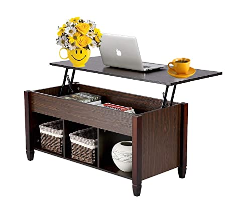 Amazon.com: Modern Furniture Lift-Top Cabinet Coffee Table 3 ...