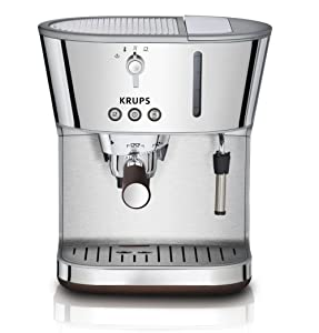 KRUPS XP4600 Silver Art Collection Pump Espresso Machine with KRUPS Precise Tamp Technology and Stainless Steel Housing, Silver