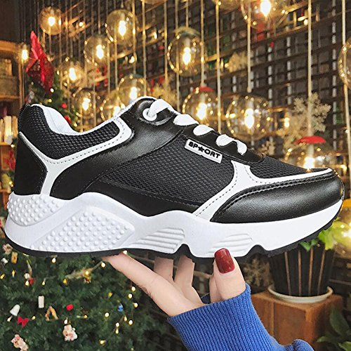 Sneakers Breathable Pink White Comfortable Women's Athletic Skid Mesh Black Shoes GAOLIXIA Shoes Casual Black Wearable Anti Shoes IqfB8p6w