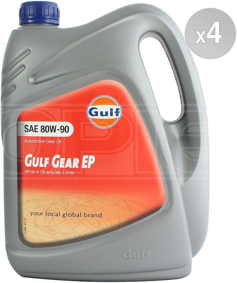 Gulf Gear EP - Aceite para caja de cambios (80 W-90, API GL-4, 4 x ...