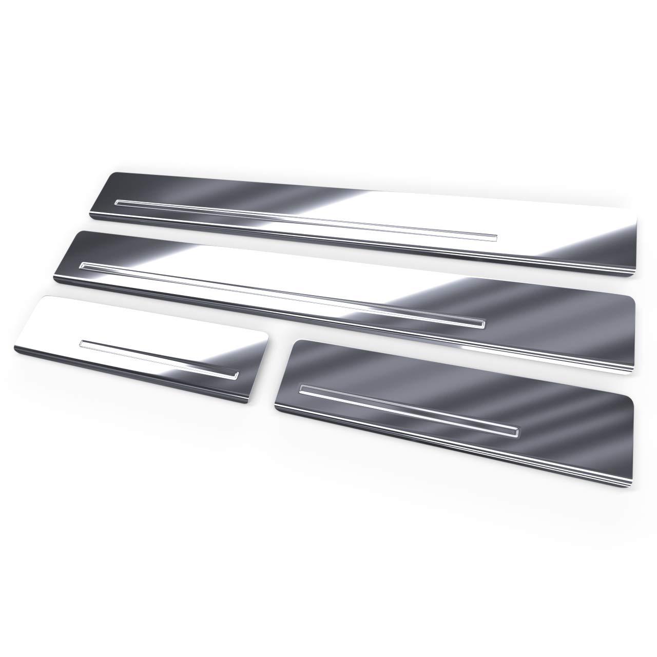 5902538678339 Glanz Auto Einstiegsleisten Set Edelstahl 4-teilig silber