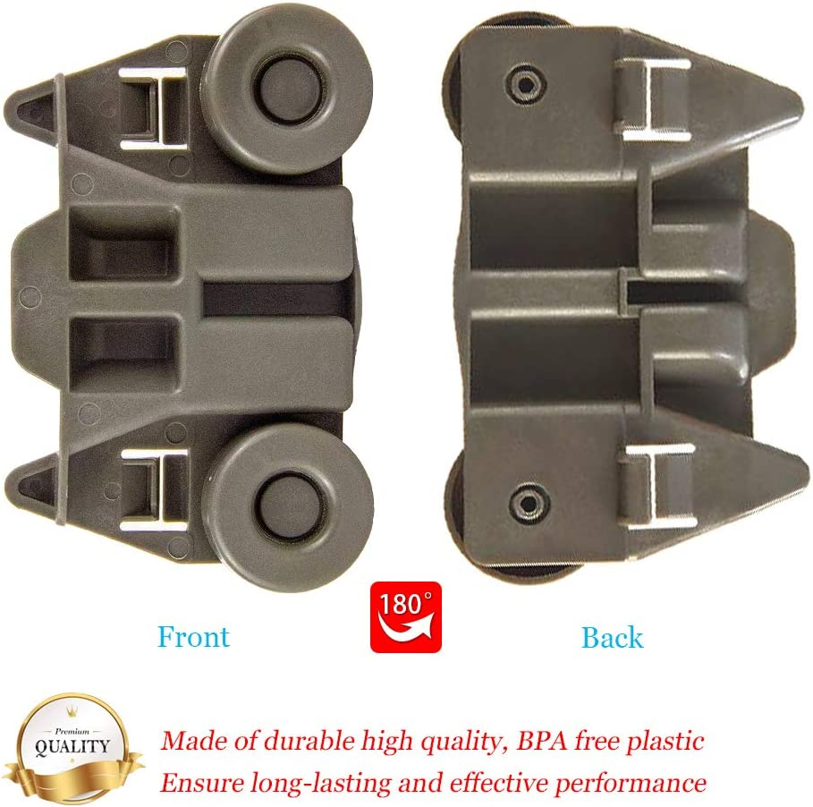 EA2579553 AH2579553 2 Packs W10195417 UPGRADED Dishwasher Wheels Lower Rack for kenmore whirlpool kitchen aid Dishwasher Wheels Replaces Dish Rack Part Number AP4538395,PS2579553,WPW10195417