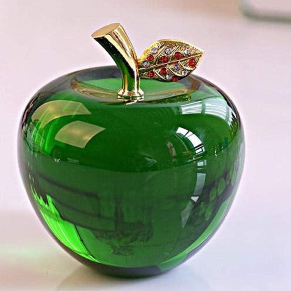 HKDHI Statues Ornaments 80MM Crystal Apple Wedding Crystal Ball Craft