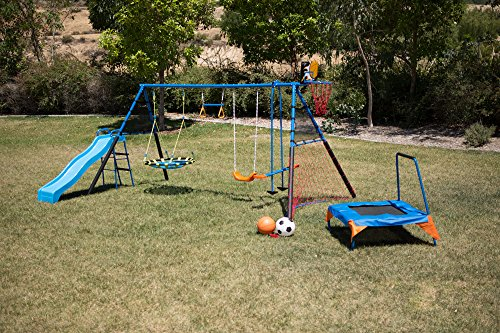 FITNESS REALITY KIDS 'The Ultimate' 8 Station Sports Series Metal Swing Set by FITNESS REALITY KIDS (Image #10)