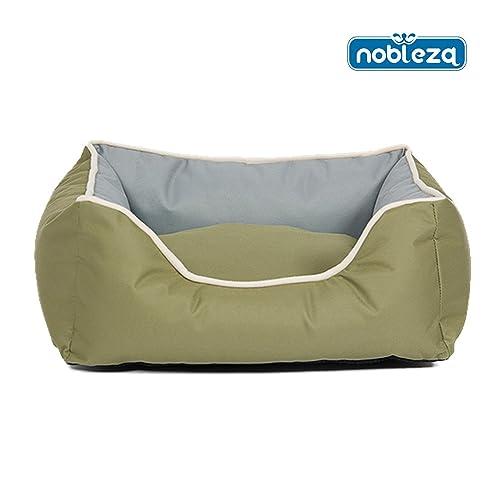 Nobleza - Cama para perros redonda y rectangular de cuadros varios medidas y colores., 14- Verde, 26- Size S L47*W37*H17CM: Amazon.es: Zapatos y ...