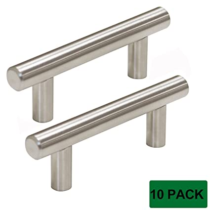 Probrico PD201HSS64 Kitchen Cabinet Handles Stainless Steel 2.5 Inch ,10  Pack