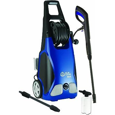 AR Blue Clean, AR383 1,900 PSI Electric Pressure Washer, Nozzles, Spray Gun, Wand, Detergent Bottle & Hose