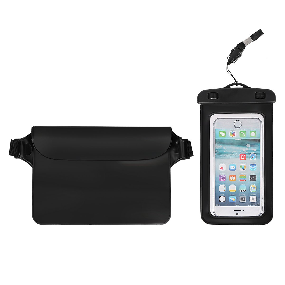 TLOVII Waterproof Bag Waterproof phone Case, Universal Waterproof Pouch Dry Bag Waterproof Case with Armband, Perfect for Swimming Kayak Boating, Suit for iPhone X 8 Plus Samsung S9 S8 Up to 7 Inch by TLOVII