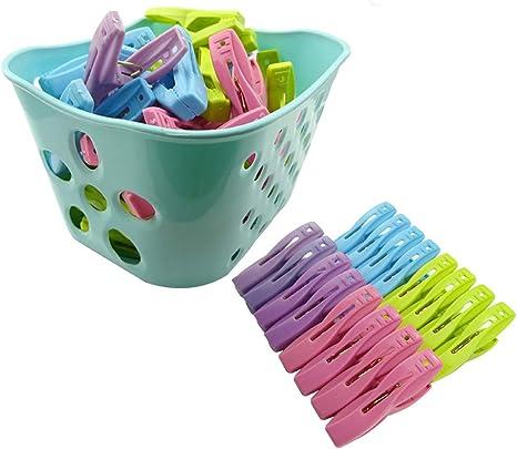 Convenient Plastic Laundry Clothes Pins Hangers Spring Clamp large Clips