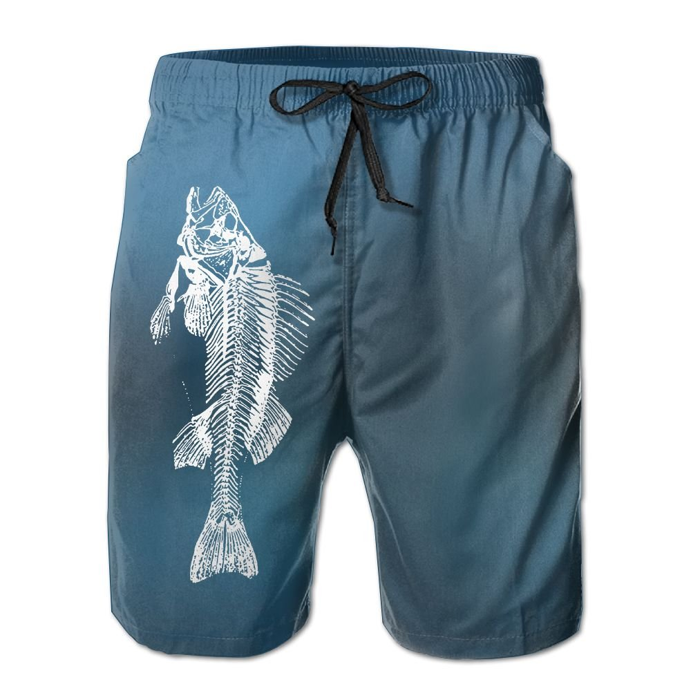 Bones Fish Men's Quick Dry Swim Trunks Boardshort
