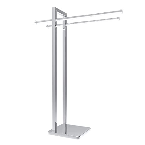 Amazon Com Freestanding Towel Rack Stainless Steel Holder