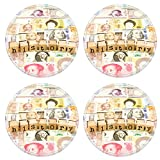 Luxlady Natural Rubber Round Coasters IMAGE ID: 25854045 closeup history wording stack on banknotes world currency business and education concept and idea