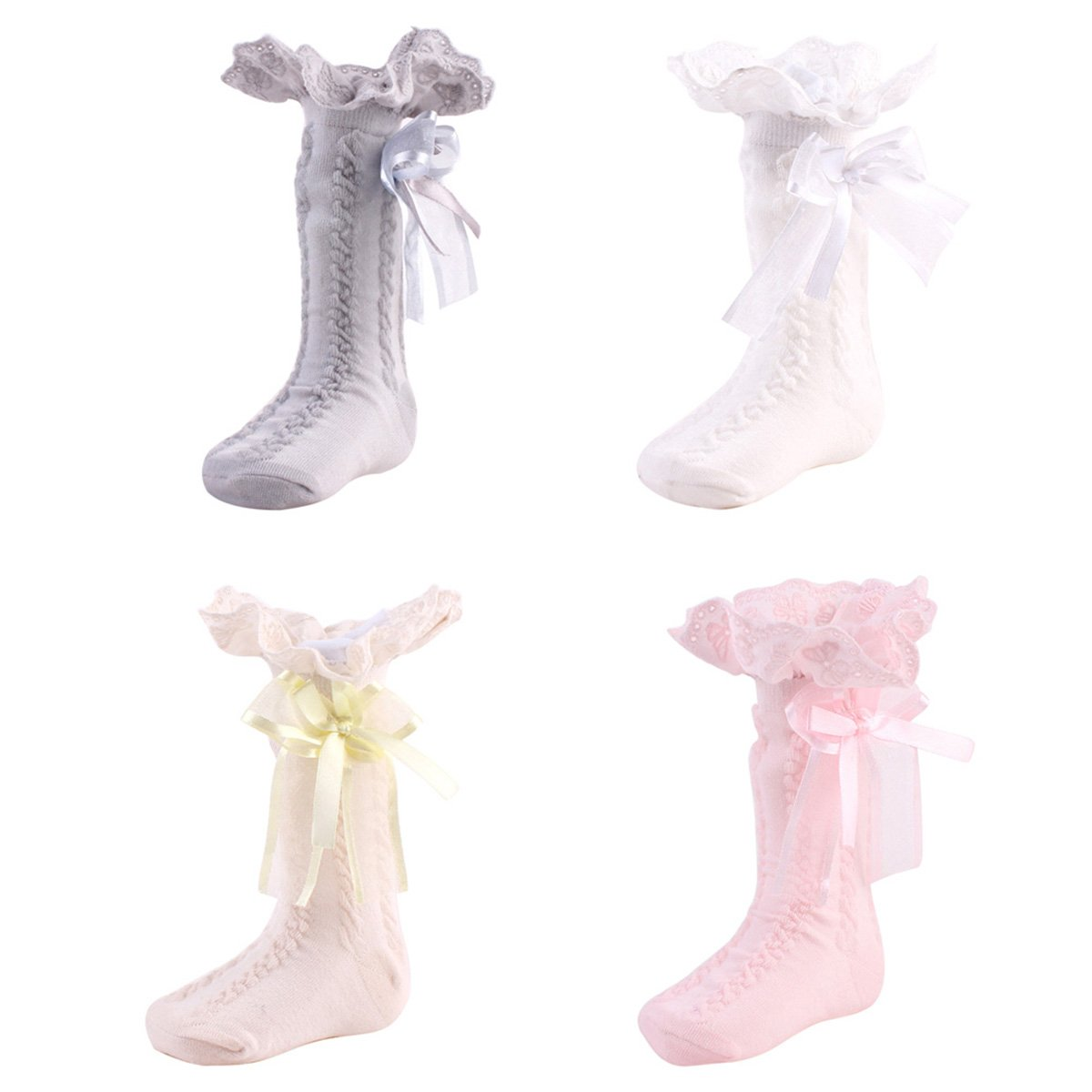 Size : S Yuniroom 0-4Y Baby Toddler Kids Cotton Lace Lining Socks Soft Comfortable Stocking