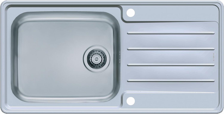 Alveus praktik 100 kitchen sink unit with pop up waste drain set 980 x 500 mm amazon co uk diy tools