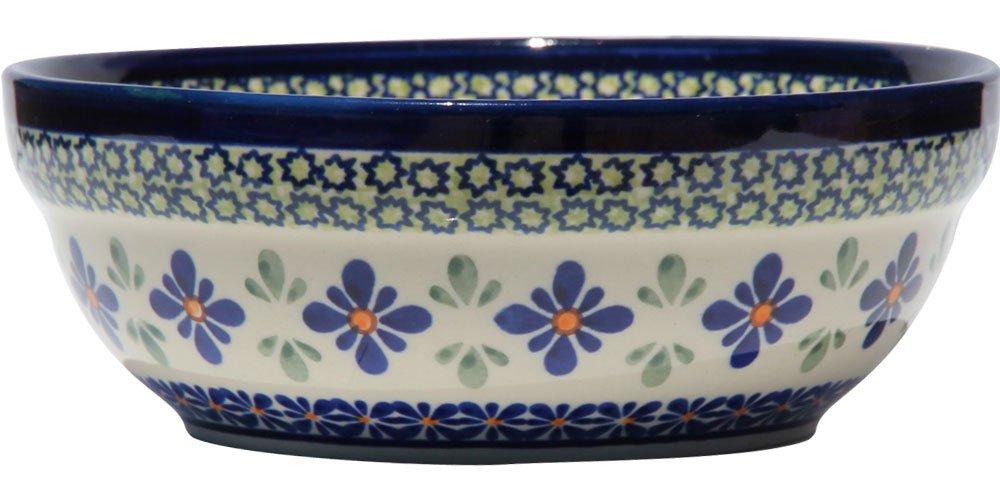 Height 2.6 Diameter Polish Pottery Cereal//Salad Bowl From Zaklady Ceramiczne Boleslawiec #1152-du60 Unikat Pattern 6.7