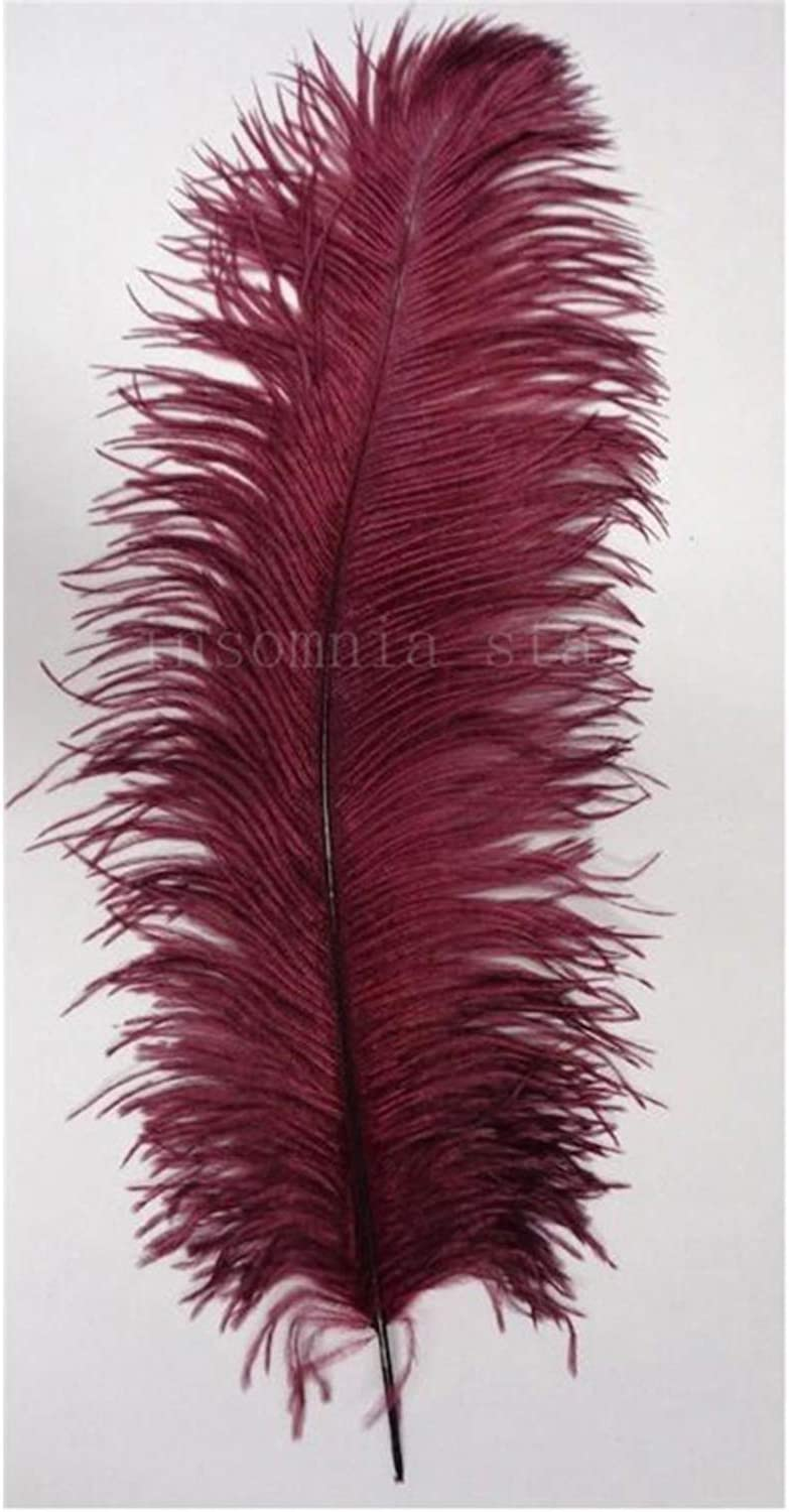 100pcs Small Pole Natural Ostrich Feather 35CM-40CM//14-16 inch Dyed Black DIY