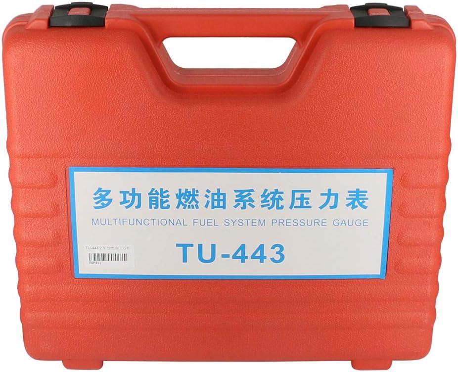BELEY TU-443 Kompression Kraftstoffeinspritzdruckpr/üfger/ät Kfz-Werkzeugsatz Mit Adapter Und 0-140PSI 0-10Bar-Manometer
