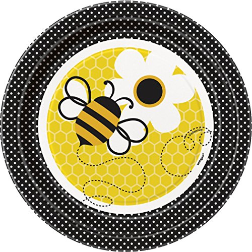 Bumble Bee Dessert Plates 8ct (Cute Halloween Desserts For Kids)