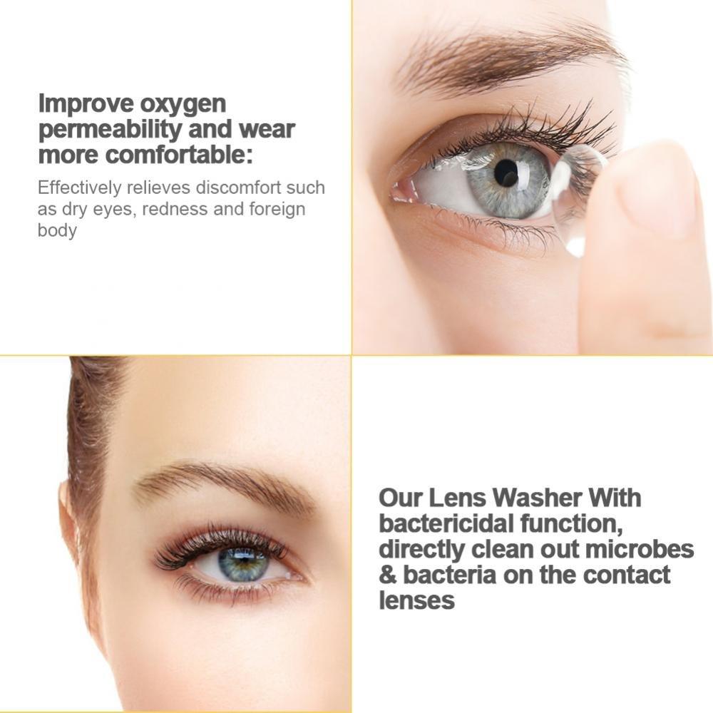 Bianco lenti a contatto addetto alle pulizie miopia bicchieri ultrasuono pulizia dispositivo Pulitore ad Ultrasuoni contatto lente pulitore,lenti cute scatola portatile
