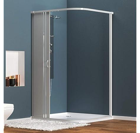 Idralite - Cabina de ducha cuadrada de 90 x 90 cm, 198 cm de altura, transparente, 6 mm: Amazon.es: Bricolaje y herramientas
