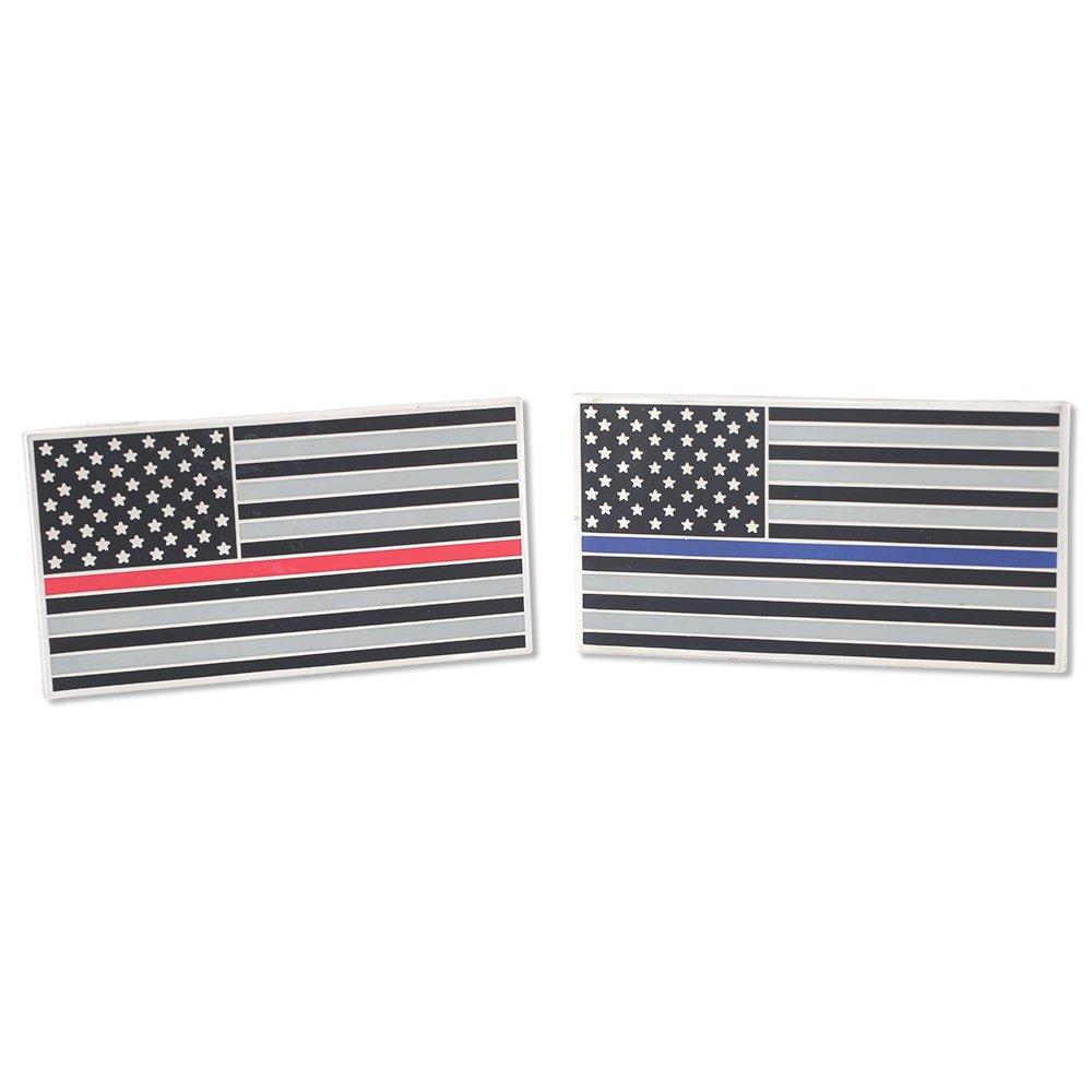 American Flag Thin Blue Line//Thin Red Line Car Bumper Wall Adhesive Decal