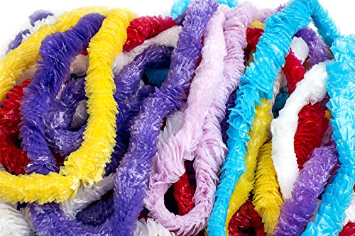 Neliblu Hawaiian Leis - Tropical Luau Party Supplies Lei Assortment, Bulk Pack of 36; Luau Party Decoration Supplies and Favors (3 Dozen Leis)