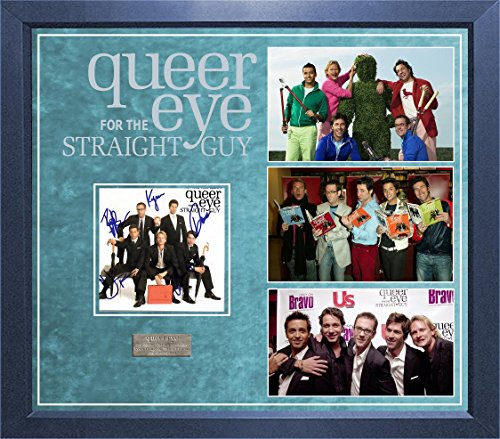 Queer Eye For The Straight Guy Autographed Cd Cover With Custom Display Case