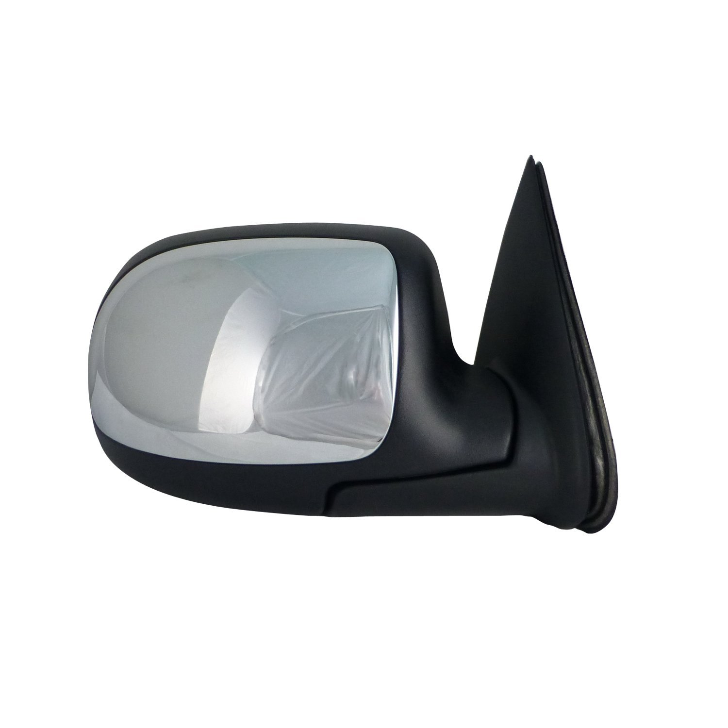 TYC Manual Door Mirror w/ Chrome Cap - RH Side - Replaces OE# 25876715 - 2170611