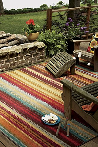Mohawk Home Avenue Stripes Indoor Outdoor Printed Area