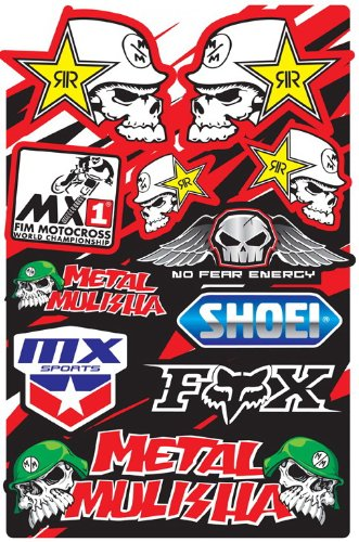1 sheet set of motocross decal stickers PACK #615 RC models metal mx bmx bikes scooters mopeds great gift