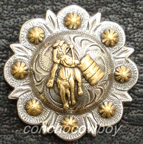 - JumpingLight Set of 6 Western Saddle Gold Barrel Racer Berry Conchos 1-1/2'' Screw Back Perfect for Crafts, Scrap-Booking, Jewelry, Projects, Quilts