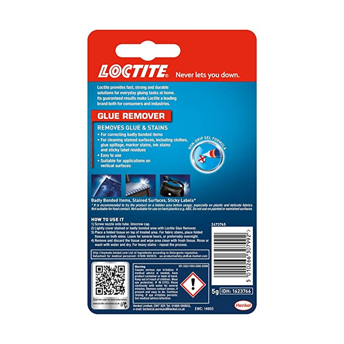 Loctite Glue Remover, High-Quality and Effective Adhesive Remover for  Correcting Badly Bonded Items, Practical Sticker Remover for a Range of