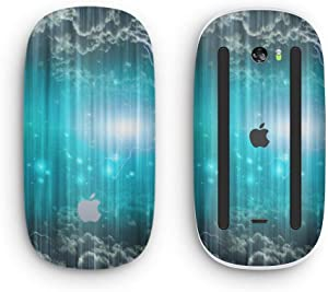 Teal Twilight Zone with Strikes of Lightening - Design Skinz Premium Vinyl Decal for The Apple Magic Mouse 2 (Wireless, Rechargable) with Multi-Touch Surface
